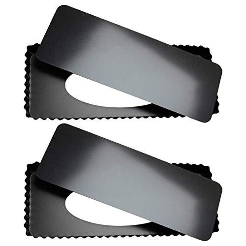 Tebery 2Stück Rechteckige Tarteform 36 X 15 X 3 cm mit Antihaftbeschichtung und Optimale Wärmeleitung, Quicheform mit Hebeboden Wellenrand