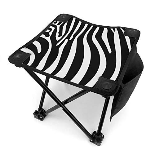 BingKeBaiBuo Zebra Haut Vektor Camping Hocker Klappstühle Klapp Camping Hocker Tragbare Outdoor Mini Stuhl Wandern Angeln Reisen Outdoor Hocker