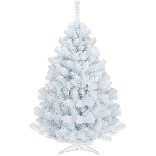 SPRINGOS Árbol de Navidad artificial de 150 cm, abeto blanco de alta...