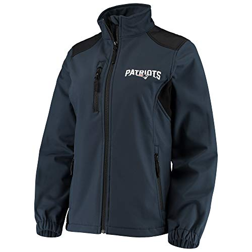 Dunbrooke Women's Navy New England Patriots Full-Zip Softshell Fleece Jacket