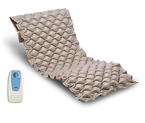 Duérmete Online Colchón Antiescaras con Compresor Serie Oasis | Previene Llagas En La Piel | Peso hasta 100 kg | Fácil Limpieza, Material ignífugo y PVC médico, Medida Universal