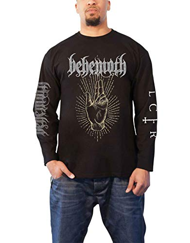 Behemoth T Shirt LCFR Morning Star Rises Logo offiziell Herren Schwarz Long