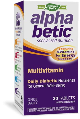 Alpha Betic Multivitamin, Energy Support (Nature's Way Brands), White, 30 Count (Pack of 1) (60038)