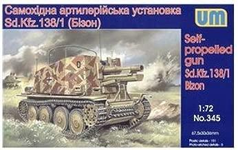 Plastic model Sd.Kfz. 138/1 Bison German self-propelled gun WWII 1/72 UM 345