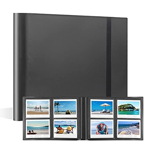 160 Pockets Photo Album for Fujifilm Instax Wide 300 Camera, Polaroid 600 Photo Album, Albums for Polaroid Now OneStep2 OneStep+ 600 Instant Film Camera, Polaroid POP Lab Instant Print Camera (Black)