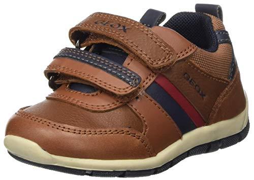 Geox Baby-Jungen B Shaax D Sneaker, Cognac/DK Navy, 26 EU