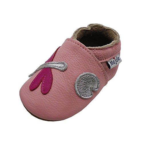 Mejale Caricature Cuir Chaussures bébé Chaussons bébé Chaussures pour Enfants Chaussons - - Rose, Libellule, 12-18 Mois,L