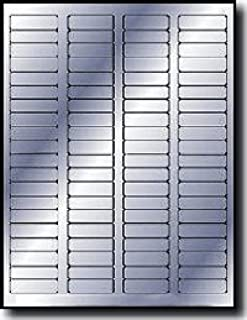 """1,600 Label Outfitters 1.75"""" x .5"""" Metallic Silver Foil Laser Permanent Adhesive Return Address Labels – 20 Sheets"""