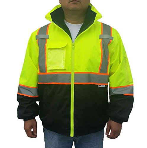 3C Products Ansi Class 3 2-Tone 3-in-1 Safety Bomber Jacket (2X-Large)
