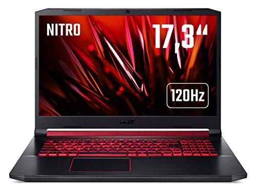 Acer Nitro 5 (AN517-51-567B) Gaming Laptop 17 Zoll Windows 10 Home - FHD 120 Hz IPS Display, Intel Core i5-9300H, 16 GB DDR4 RAM, 512 GB M.2 PCIe SSD, NVIDIA GeForce RTX 2060 - 6 GB GDDR6