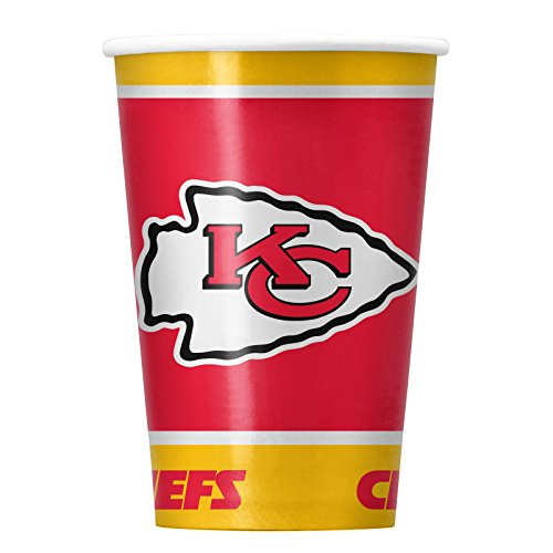 NFL Kansas City Chiefs Disposable Paper Cups, Pack of 20