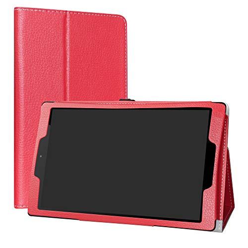 Labanema Odys ACE 10 & Maven G10 Hülle, Slim Fit Folio PU Leder dünne Kunstleder Schutzhülle Cover Schale Etui Tasche für Odys ACE 10 & Maven G10 10,1 Zoll Tablet - Rot