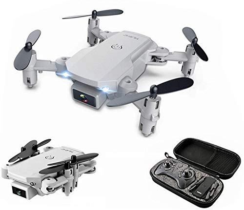 QSSQ Mini RC Drone with 4K HD Camera Professional Aerial Photography Helicopter WiFi FPV Gravity Induction Foldable Quadcopter,Gray