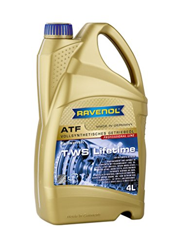 RAVENOL J1D2122-004 T-WS Lifetime Full Synthetic Automatic Transmission Fluid ATF (4 Liter)
