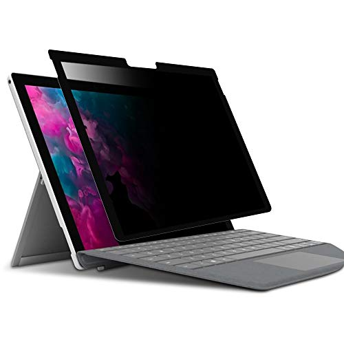 surface pro privacy filter, Removable Privacy screen for surface pro 7/6/5/4, MS surface anti spy screen protector, washable & resuable,bubble free,3 seconds install
