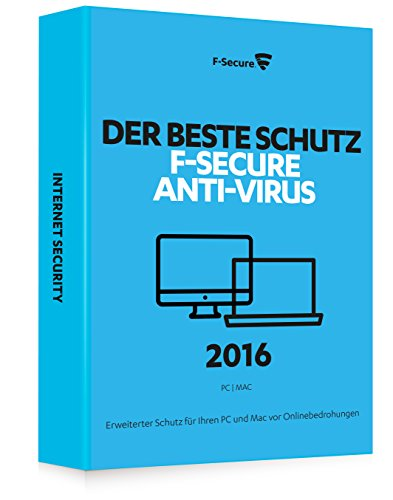 F-Secure Anti-Virus 2016 PC & Mac - 1 Jahr / 3 Computer