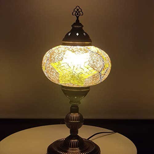 Lámpara oriental de mosaico XL (55 cm) / lámpara de noche turca de mosaico / lámpara de noche oriental XL (55 cm)