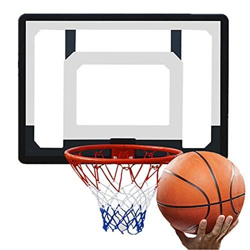 Canasta de Baloncesto Mini Aro De Baloncesto, Un Aro De Baloncesto Montado En La Pared con Una Instalación Sin Orificios, para Adultos Y Niños.