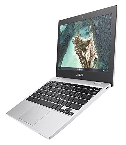 "ASUS Chromebook CX1, 11.6"" HD NanoEdge Display, Intel Celeron N3350 Processor, 32GB eMMC, 4GB RAM, Spill-resistant Keyboard, Chrome OS, Transparent Silver, CX1100CNA-AS42"