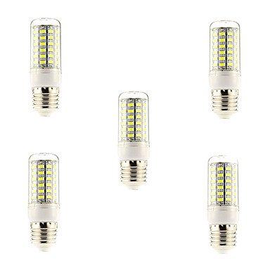 WELSUN Ampoules Maïs LED Blanc Naturel 5 pièces E26/E27 69 SMD 5730 700 LM AC 100-240 V