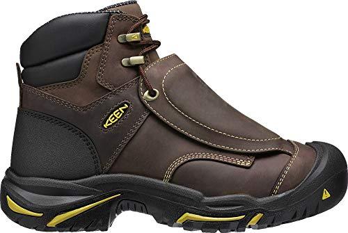 "KEEN Utility Men's Mt Vernon 6"" Steel Toe Metatarsal Guard Work Shoe, Cascade Brown/Tawny Olive, 9.5 Medium US"