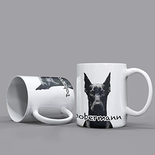 Bentatec Dobermann in schwarz/Weiss - Kaffeetasse Tasse Geschenkbecher