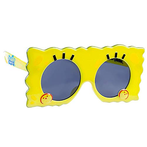 Sun-Staches Licensed Lil Character Spongebob Party Spongebob Sunglasses with UV Protection, One Size Fits All Kids Age 3+ - Spongebob Party Supplies: Use for Party Props & Favors Black