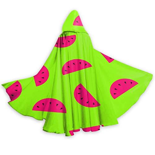 ALALAL Colorido Verano Fresco Fruta sanda Capa Disfraz Adulto Hombres Capa 59 Pulgadas para Navidad Halloween Cosplay Disfraces