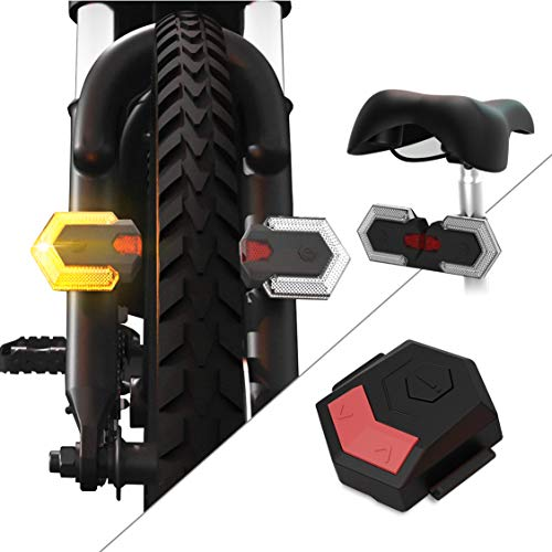 CarThree Bike Turn Signals Front and Rear Light with Remote Control,Waterproof, Easy Installation Bike Tail Light for Cycling Safety Warning Light