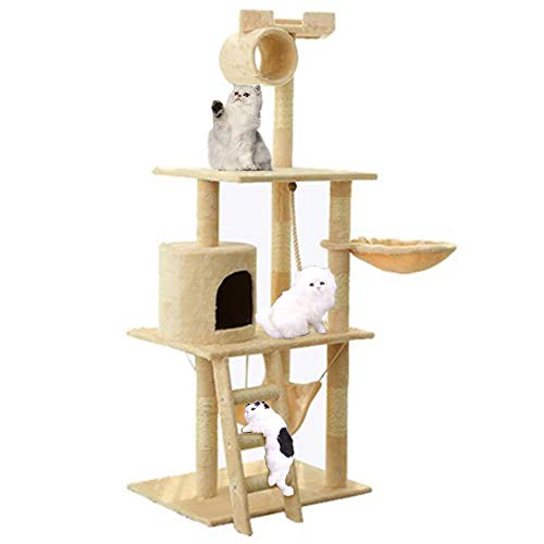 Cat Activity Center op meerdere niveaus - Krabpaal Tower Cat, Condo/zitstokken Platform/speelhuis speelgoed