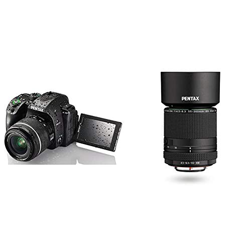 Great Deal! Pentax K-70 24MP DSLR with 18-55mm WR Lens and Extended Warranty w/Pentax HD DA 55-300mm...