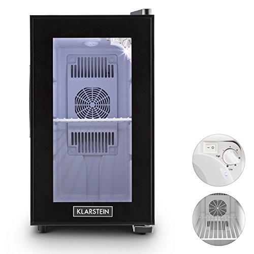 Klarstein Beerlocker S - Minibar, Réfrigérateur boissons, 21 L, Double isolation, insert en métal, Autonome, silencieux, 70W, hauteur de pieds réglable, noir