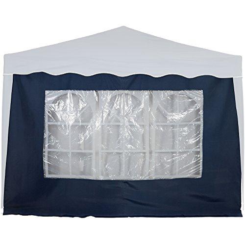 INSTENT® Basic Seitenwand/Seitenteil für Pavillon 3x3m mit Reißverschluss oder Fenster, Wasserabweisend und atmungsaktiv, Farbwahl, für Festzelt, Partyzelt