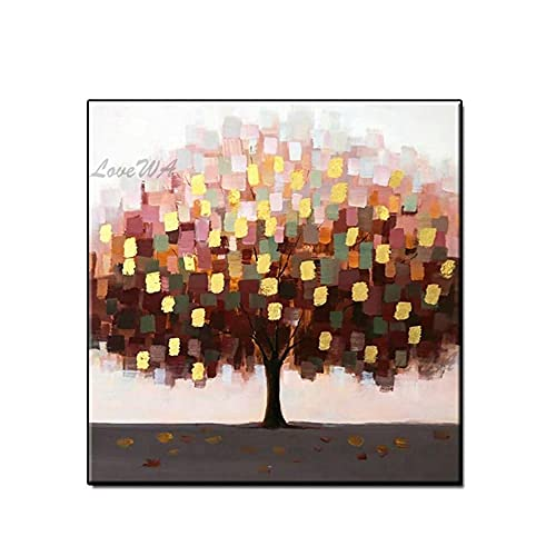 ZNYB Cuadros Pintados A Mano Hermosos árboles frutales 100% Cuadros Hechos a Mano Pintura al óleo sobre Lienzo Cuadros de Pared Abstractos Modernos sin Marco