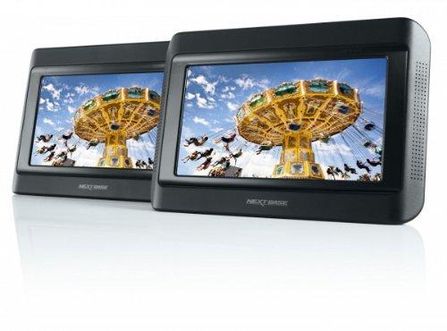Nextbase Click 9 Lite Duo tragbarer DVD-Player 22,8 cm (9 Zoll) mit 2 Bildschirmen inkl. Auto-Holmhalterung