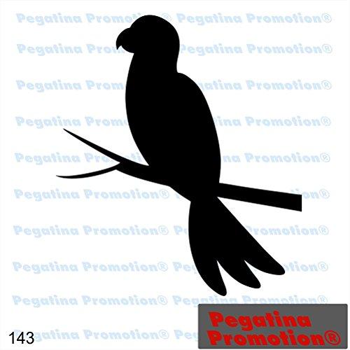 Piktogramm Typ 143 Icon Symbol Zeichen Papagei Ara Vögel Vogelpark Aufkleber Sticker ca.15cm von Pegatina Promotion® Aufkleber mit Verklebehilfe von Pegatina Promotion® ohne Hintergrund geplottet