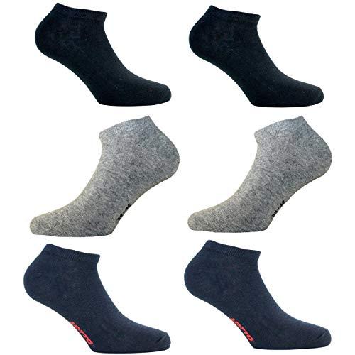 Lotto. Salva Fußschoner, Sportschuhe, 6 Paar, kurze Socken für Herren & Damen & Jungen, Herren, mehrfarbig, 35-38