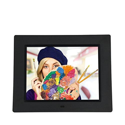 """Rollei Degas DPF-850 - Digitaler Multi-Media Bilderrahmen mit 8.0"""" (20,3 cm) TFT-LED Panel, Bild-, Video-, Musik-, Kalender- und Uhrfunktion, Diashow, inkl. Fernbedienung - Schwarz"""