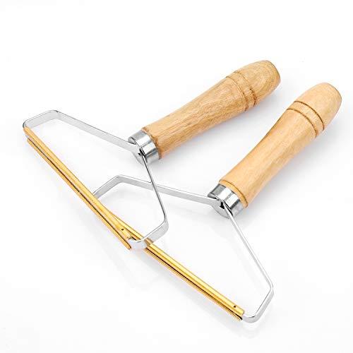 SNUNGPHIR TragbarerFusselrasierer Fusselentferner, 2 StückClothes Lint RemoverFuzz Shavermit Holz Griff für Kleidung und Weitere Stoffe