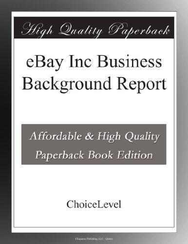 eBay Inc Business Background Report