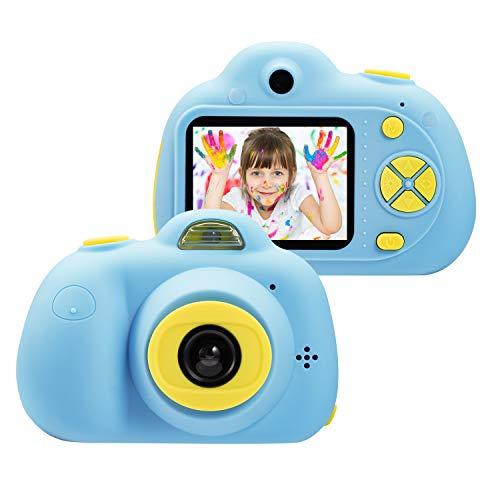 omzer Kinder Spielzeug Kamera für 3-6 Jahre alte Jungen Mädchen, kompakte Kameras für Kinder, Kinder 8MP HD Videokamera kreative Geschenke, blau (16 GB Speicherkarte enthalten)