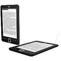 """Woxter E-Book Scriba 195 - Lector de libros electrónicos 6""""(1024x758, E-Ink Pearl pantalla más blanca, EPUB, PDF) Micro SD, guarda más de 4000 libros, textura engomada, color negro"""