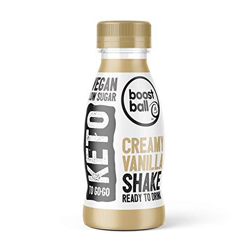 Boostballs Keto Shake, Ready to Drink Creamy Vanilla Shake, Vegan, Keto, Low Sugar Shake, Pack of 12, 310 ml