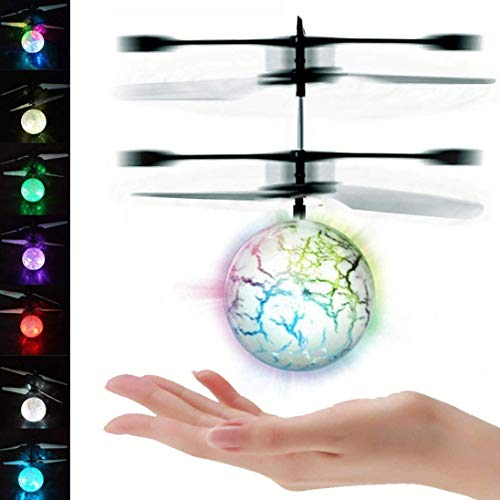 UTTORA Pelota voladora Flying Ball Crystal Intermitente LED