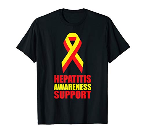 Hepatitis A B C Awareness Ribbon Screening Testing Support T-Shirt
