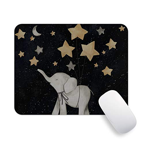 Pricetail Mouse Pad, Elephant Under The Star Cute Mouse Pads, Mouse Pad Gaming Small-grtswp, Non-Slip Rubber Base Mouse Pads, Waterproof Office Mousepads, for PC Computer Laptop, 7.9 x 9.8 x 0.1 Inch