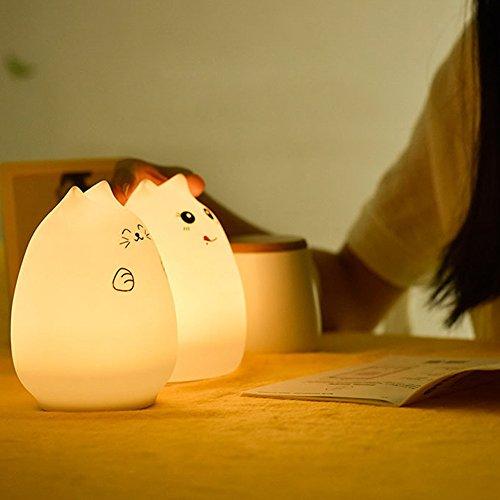 Ahomi bonte diersiliconenhoeveelheid huisdier-leuke en kleurrijke licht-lampen-nachtlampje