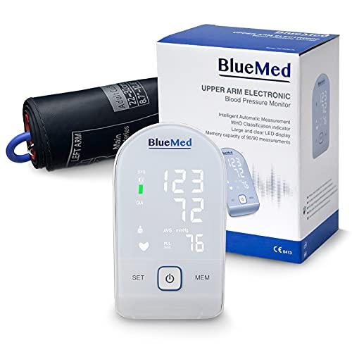 BlueMed Oberarm-Blutdruckmessgerät LCD...