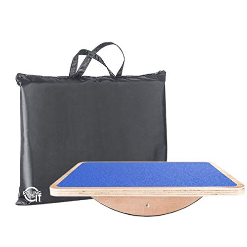 Best Price Professional Balance Board, Wooden Rocker - Core Strength, Flexibility, Posture, Stabilit...