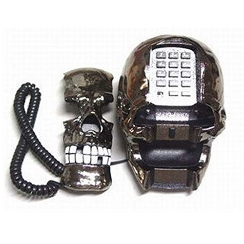 TeléFono con Forma De Calavera Fantasma Divertido Y Divertido De Halloween Ghost Festival TeléFono con Cable TeléFono Fijo